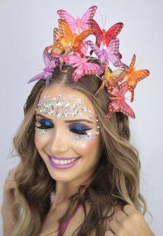 fantasia carnaval, fantasia de carnaval 2018, carnaval 2018, sutia de sereia, top de concha, sutia de borboleta, adorno pra cabeça, tiara de borboleta, acessorio de cabeça carnaval