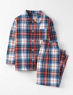 Discover our range of boys' nightwear at Boden. Browse our cosy collection of printed pyjamas and soft slippers sure to keep things snug at bedtime. Pyjamas, Pjs, Soft Slippers, Toddler Boy Fashion, Klein Blue, Mini Boden, Blue Check, Nightwear, Pajama Set
