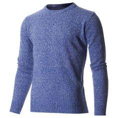 #FLATSEVEN Men's Premium Casual Knitted Pullover Crew Neck Sweater (SW400) FLATSEVENSHOP.COM