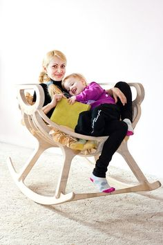 Rocking chair Wooden Rocking chair  furniture Wooden by TreeSky