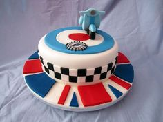 mod cake - Google Search Good Food, Yummy Food, Fun Food, 50th Birthday Party, Birthday Cakes, Happy Birthday, 50th Cake, Small Faces, Novelty Cakes