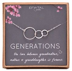 Three Generations of Love Grandma Necklace - I think any grandma would cry tears of joy when she gets this!