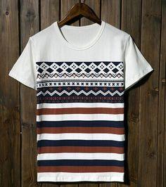 Geometric Print Color Block Striped Short Sleeve Round Neck Slimming Cotton T-Shirt For Men Color: WHITE Size: M, L, XL Category: Men > Men's T-Shirts & Vest Material: Cotton Sleeve Length: Short Collar: Round Neck Style: Fashion #cheaptshirtsformenonline #cheaptshirts #tshirtsformen #onlinetshirts #bridgat.com