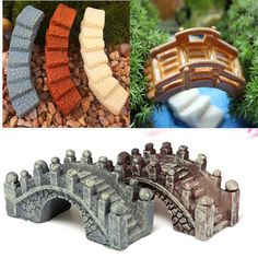 Micro Landscape Small Stone Bridge Ornament Scenery Bonsai Gardening Accessories