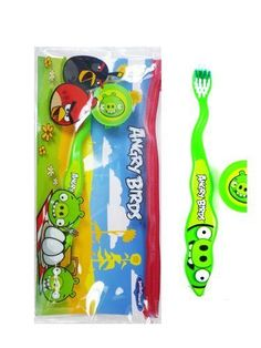 Angry Birds Green Pig Travel Toothbrush Kit - Angry Birds Toothbrush by Rovio *** Check this awesome image  : Travel size items