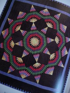 Amish quilt, Broken Star ca. 1930 I have a quilt in this same pattern made by a great aunt