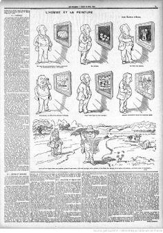 Caran d'Ache, Le Figaro du 19 avril 1897 : L'homme et la peinture