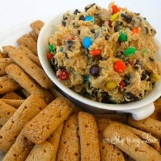 monster cookie dough dip. use reese pieces instead of m for andrews going away party