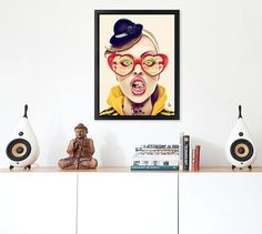 Tag your friends who would totally rock this interior and @giuliorossi83 wall art!  #interior #art #design #illustration #digital #painting #graphic #crazy #people #friends #tag #buddha #canvas #photo