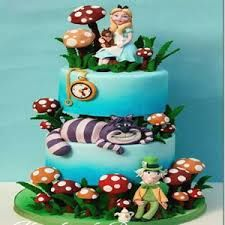 Image result for easy alice in wonderland cakes
