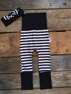 Marine Striped evolutive baby pant from Coton Vanille. Fits Maxaloones , grow-with-me pants, toddler pant Toddler Pants, Baby Pants, Toddler Outfits, Toddler Fashion, Kids Fashion, Clothes, Sewing, Knitting, Wood