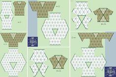 A variety of formulas for making shirts,  blouses, boleros