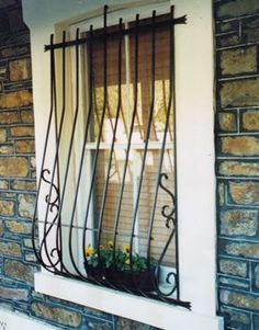 Window Grill Designs Ideas for Homes Victorian Windows, Window Bars, Window Security, Window Grill Design, Iron Windows, Home Security Tips, Adobe House, Facade House, Cool House Designs