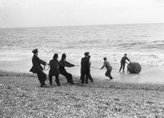 Mine on Brighton beach 1945