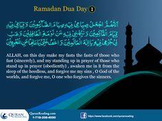 Ramadhan Dhuas: Day 1