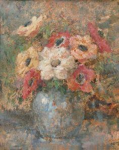 """""""Anemones in Vase"""", Olga Boznańska"""