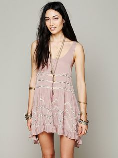 Free People Voile and Lace Trapeze Slip, £78.00