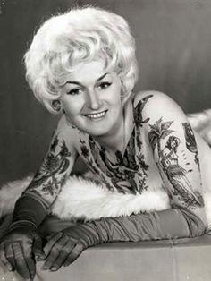 Tattooed people in the twentieth century