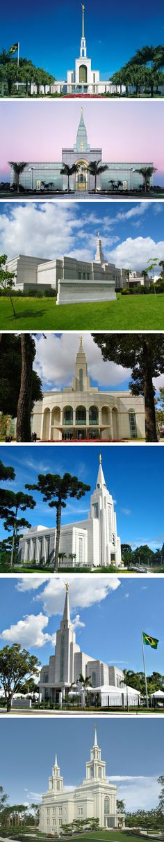 Mormon Temples in Brazil - Sao Paulo - Campinas - Porto Alegre - Recife - Curitiba - Manaus - Fortaleza