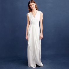 Browse Beach Bridal Dress Inspiration for Summer Weddings | Adrienne Gown, $550; at J. Crew
