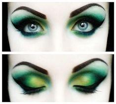 Gothic Makeup, Fantasy Makeup, Goth Eye Makeup, Halloween Eyes, Halloween Makeup, Halloween Costumes, Cosplay Makeup, Costume Makeup, Fairy Eye Makeup
