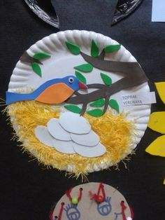 paper plate bird nest craft | Crafts and Worksheets for Preschool,Toddler and Kindergarten