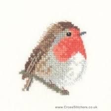 cross stitch bird (robin) voor de umbra kruisjes