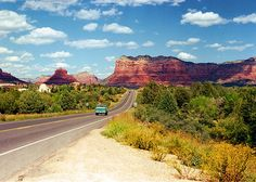 Near Sedona, AZ. This looks like the drive between Cottonwood and Sedona before the road was widened.