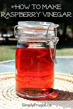 How to Make Raspberry Vinegar. Perfect for homemade salad dressings!