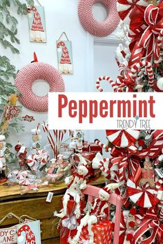 Ready for more Christmas tree inspiration? Here's an adorable peppermint and gingerbread tree that Rachel and Carrie put together in the Trendy Tree Gingerbread Christmas Tree, Gingerbread Decorations, Diy Christmas Tree, Christmas Tree Decorations, White Christmas, Christmas Wreaths, Whimsical Christmas Trees, Christmas Ideas, Vintage Christmas Crafts