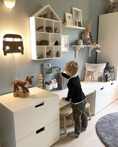 Playroom Ideas - These playroom design ideas are fit to little rooms and also larger rooms, to open-plan locations and to rooms with doors (you can firmly close). ideen ikea 30 Best Playroom Ideas for Small and Large Spaces Kids Playroom Rugs, Playroom Design, Playroom Decor, Kids Room Design, Playroom Ideas, Ikea Toy Storage, Storage Units, Toddler Rooms, Boy Toddler Bedroom