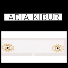 "Just In""I See You Looking"" ""All Seeing Eye Post Earring"" by Adia Kibur! Gorgeous Crystal and Gold studded earrings! These babies definitely make a statement!  Material Content:  Metal Alloy & Crystal Adia Kibur Jewelry Earrings"