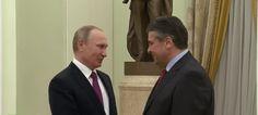 Wladimir Putin hatte am Donnerstag den deutschen Außenminister Sigmar Gabriel in Moskau empfangen, um über die deutsch-russischen Beziehungen zu reden.