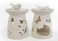 Ceramic Oil Burner Warmer Tea Light Candle Holder Home Fragrance Bird Butterfly in Home, Furniture & DIY, Home Decor, Home Fragrances   eBay