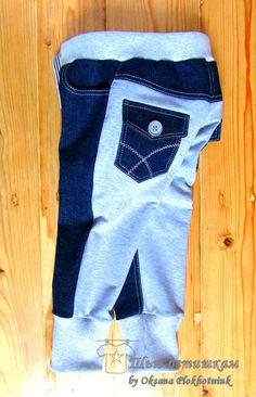 Оказывается джинс и футер очень хорошо уживаются в одном изделии. Мама Кристина заказала для своего сынули джинсы с просьбой сделать трико...