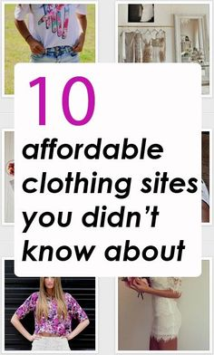 10 affordable clothing websites you didn't know about!