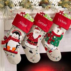 Family Christmas Stockings, Pet Stockings, Glitter Heat Transfer Vinyl, Christmas Lights, Personalized Stockings, Christmas Characters, Papers Co, Personalized Products, Red And White