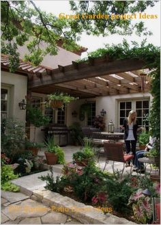 How to Choose the Best Pergola Design for Your Garden Awesome Stone Patio and Pe.How to Choose the Best Pergola Design for Your Garden Awesome Stone Patio and Pe.How to Choose the Best Pergola Design fo. Small Backyard Patio, Backyard Patio Designs, Pergola Designs, Diy Patio, Backyard Ideas, Garden Ideas, Rustic Backyard, Country Patio, Gazebo Ideas