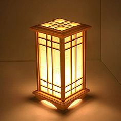 Getting The Perfect Table Lamp For Your Room Wood Desk Lamp, Wood Lamps, Table Lamp, Japanese Lamps, Diy Lampe, Living Room Wood Floor, Paper Lampshade, Pine Table, Style Japonais