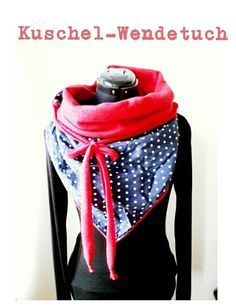 LINED scarf, with fleece, by 65 cm. Sewing Scarves, Sewing Clothes, Diy Clothes, Sewing Tutorials, Sewing Crafts, Sewing Projects, Diy Projects For Kids, Diy For Kids, Love Sewing