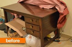 Before & After: A Damaged Desk Goes for the Gold