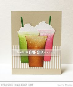 Stay Cool Stamp Set, Cool Cup Die-namics - Donna Mikasa  #mftstamps