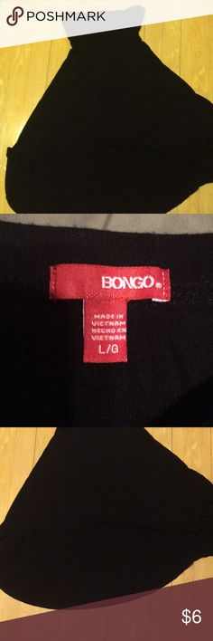 Large Bongo strapless dress. Black. Never worn. Tea length, but high/low style. Strapless with bra cups. BONGO Dresses High Low