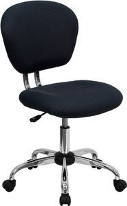 Flash Furniture H-2376-F-GY-GG Mid-Back Gray Mesh Task Chair with Chrome Base