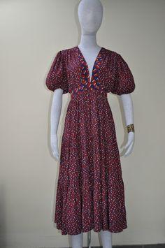 True Vintage Ossie Clark Tiered Dress with Mixed Celia Birtwell Prints | eBay