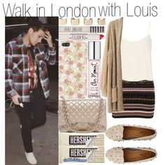 Walk in London with Louis by cr4zy-onedirection on Polyvore featuring polyvore fashion style Topshop Chanel Maison Margiela