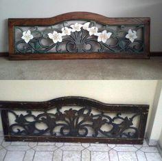 Respaldo de cama mejorado con un poco de pintura y recuperación de la madera