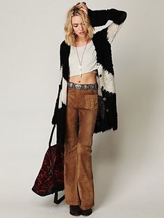 Blank Suede High Waist Wideleg at Free People Clothing Boutique - StyleSays