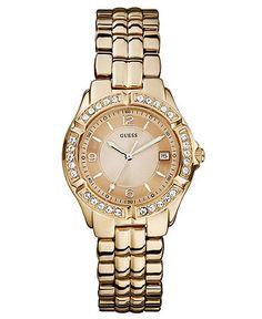 guess gold watch
