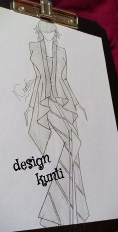 Fashion Illustration Sketches, Fashion Sketches, Model Rok, Fashion Figure Templates, Fashion Figures, Kebaya, Women's Fashion, Modern, Clothing